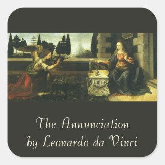 The Annunciation by Leonardo da Vinci Sticker