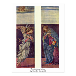 The Annunciation By Sandro Botticelli Postcard