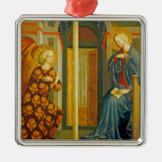 The Annunciation, c. 1423-24 Silver-Colored Square Ornament