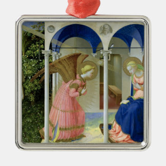 The Annunciation, c.1430-32 Silver-Colored Square Ornament