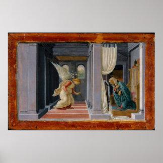 The Annunciation, circa 1485 Poster