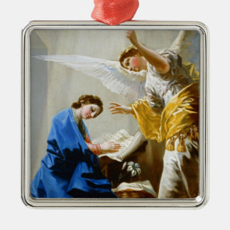 The Annunciation Francisco José de Goya fine art Silver-Colored Square Ornament
