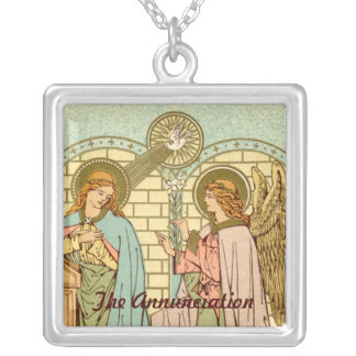 The Annunciation  (RLS 04) Silver Plated Necklace