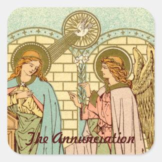 The Annunciation  (RLS 04) Square Sticker