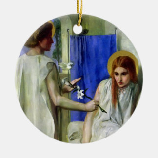 The Annunciation Round Ceramic Ornament