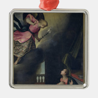 The Annunciation Silver-Colored Square Ornament