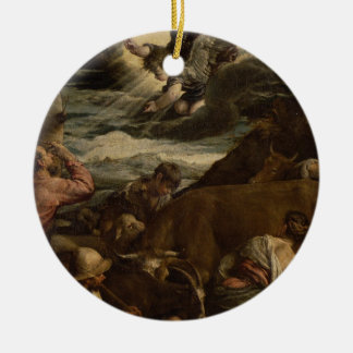 The Annunciation to the Shepherds, c.1557-8 Round Ceramic Ornament