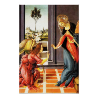 The Annunciation Virgin Mary Gabriel Angel Poster