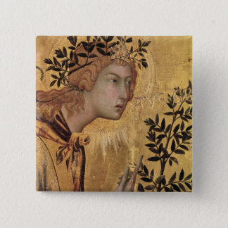The Annunciation with St. Margaret 2 Inch Square Button