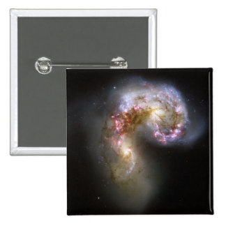 The Antennae galaxies 2 Inch Square Button