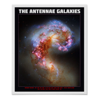 The Antennae Galaxies Poster