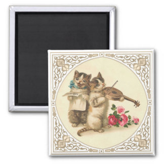 The Anthropomorphic Musical Kittens Square Magnet