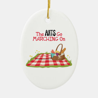The Ants Go Marching Ceramic Ornament