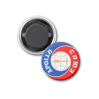 The Apollo–Soyuz  Mission Logo 1 Inch Round Magnet