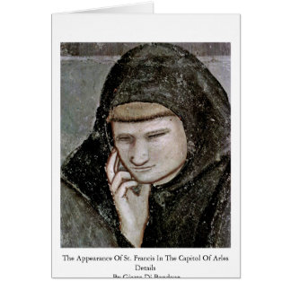 The Appearance Of St. Francis In The Capitol Greeting Cards