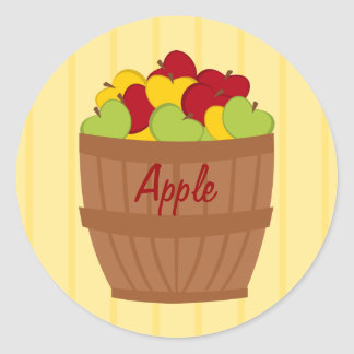 The Apple Baket Round Sticker