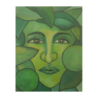 The Apple Lady Wood Wall Art