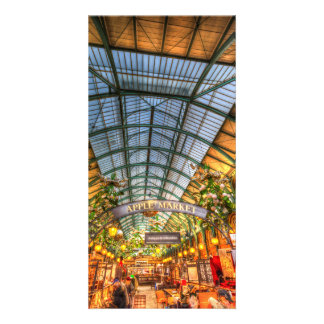 The Apple Market Covent Garden London Custom Photo Card