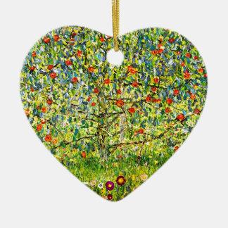 The Apple Tree Ceramic Heart Ornament