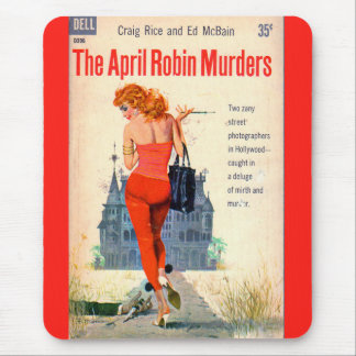 The April Robin Murders pulp novel cover Mouse Pad