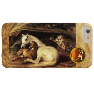 THE ARAB TENT WITH HORSE Orange Agate Gem Monogram Barely There iPhone 6 Plus Case
