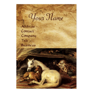 THE ARAB TENT WITH HORSES ,OTHER ANIMALS Parchment Pack Of Chubby Business Cards