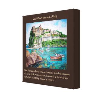 "The Aragonese Castle - 12"" x 12"", 1.5"", Single Canvas Print"