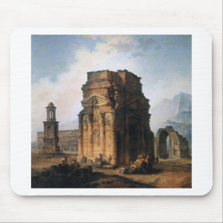 The Arc de Triomphe and the Theatre of Orange Mouse Pad