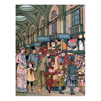 """The Arcade"" Vintage Illustration Postcard"