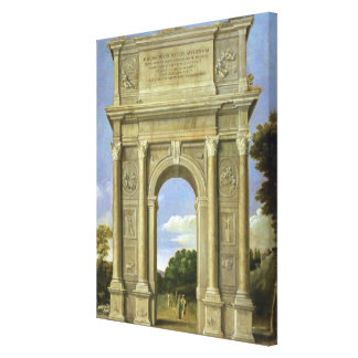 The Arch of Triumph Stretched Canvas Print