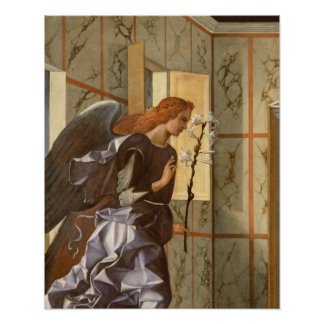 The Archangel Gabriel, from The Annunciation dipty Poster