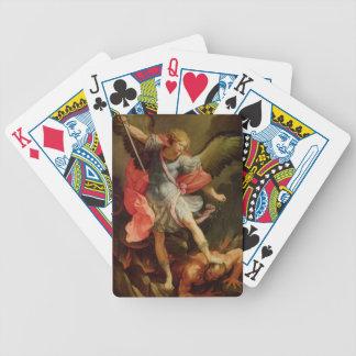 The Archangel Michael defeating Satan Poker Deck