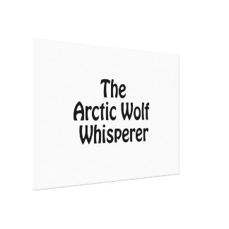 the arctic wolf whisper gallery wrapped canvas