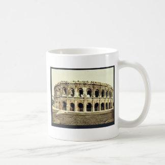 The arena, exterior, Nimes, France vintage Photoch Coffee Mug