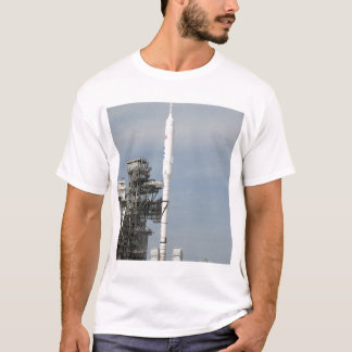 The Ares I-X rocket is seen on the launch pad T-Shirt