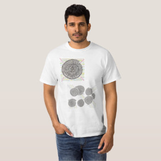 The arithmetic Mandara T shirt where color is