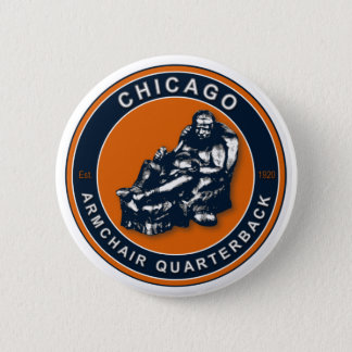 THE ARMCHAIR QB - Chicago 2 Inch Round Button