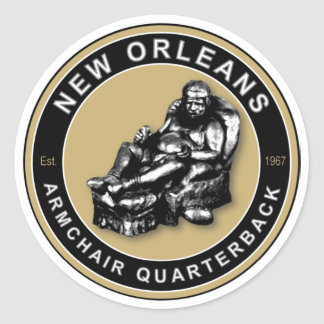 THE ARMCHAIR QB - New Orleans Classic Round Sticker