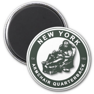 THE ARMCHAIR QB - New York JETS 2 Inch Round Magnet