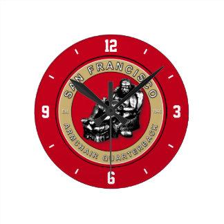 The Armchair Quarterback - San Francisco Football Round Clock