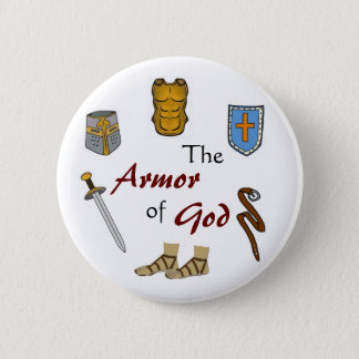 The Armor of God 2 Inch Round Button