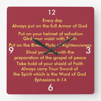 The Armor of God Salvation Wall Clock