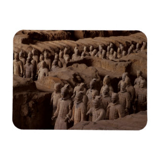 The Army of terra cotta warriors at Emperor Qin Rectangular Photo Magnet