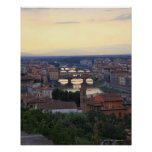 The Arno River and Ponte Vecchio in Florence, Poster