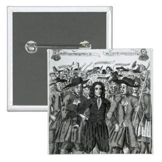 The Arrest of Judge Jeffreys  1689 Pinback Buttons
