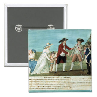 The Arrest of Louis XVI and his family 2 Inch Square Button