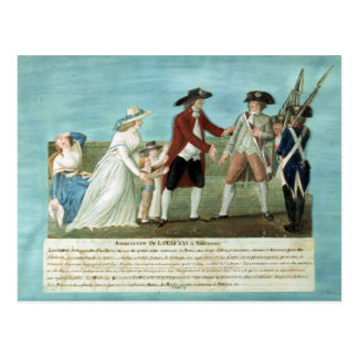 The Arrest of Louis XVI and his family Postcard