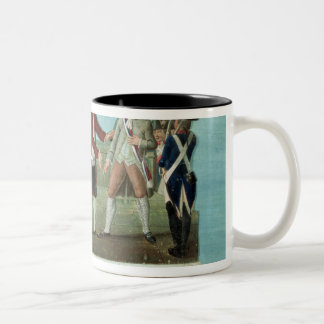 The Arrest of Louis XVI and his family Two-Tone Coffee Mug