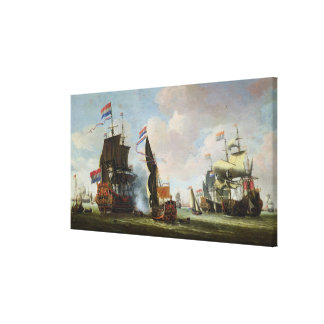 The Arrival Michiel Adriaanszoon Ruyter Canvas Print