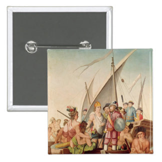 The Arrival of Hernando Cortes in Mexico Pins
